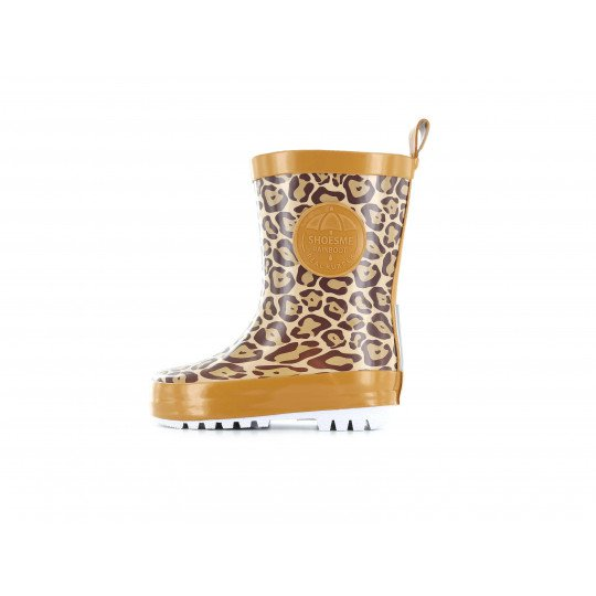 Shoesme regenlaars met allover luipaardprint