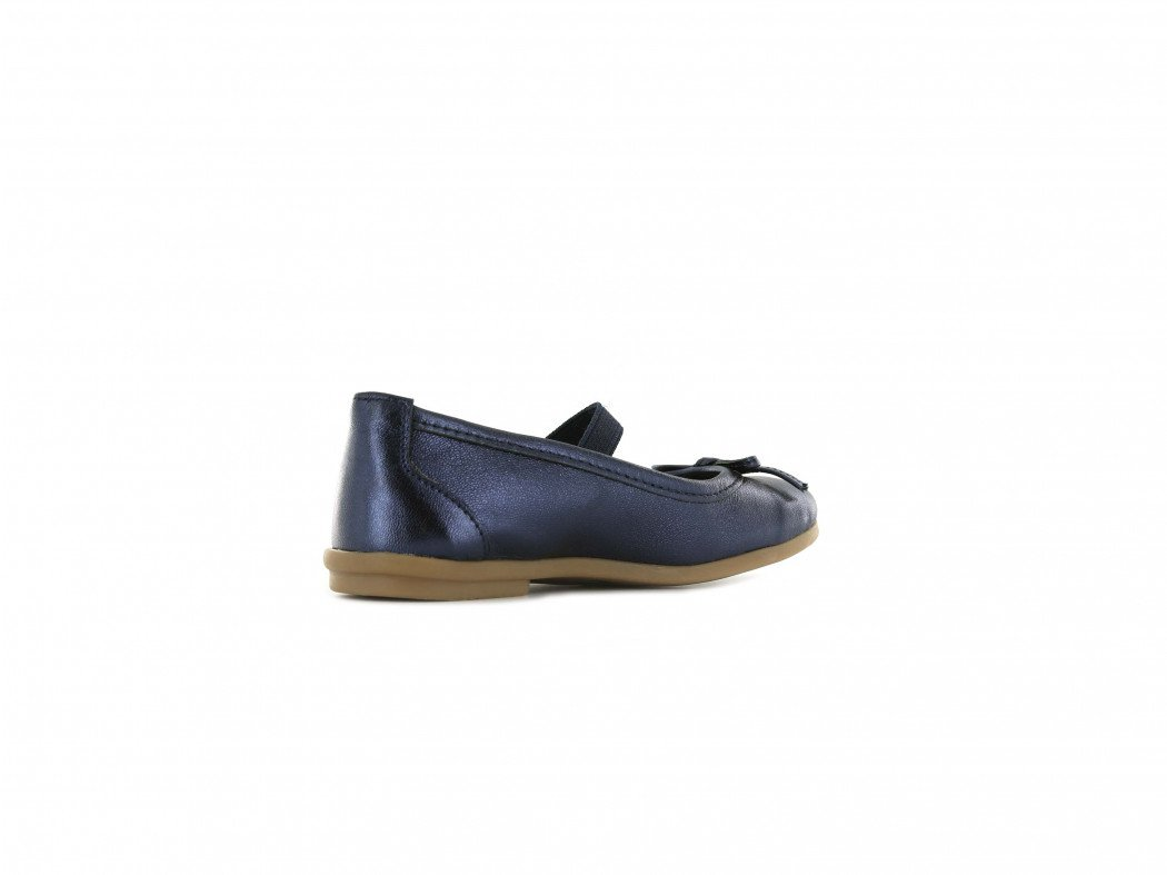Shoesme blauw metallic ballerina