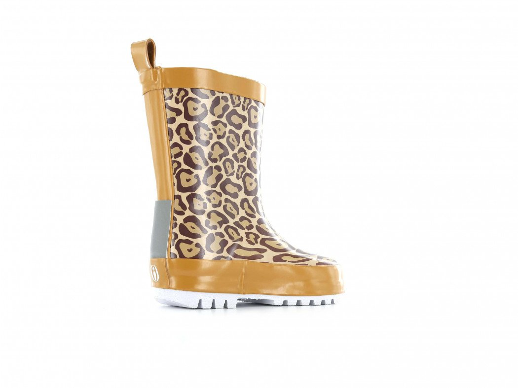 Shoesme regenlaars met all-over luipaardprint