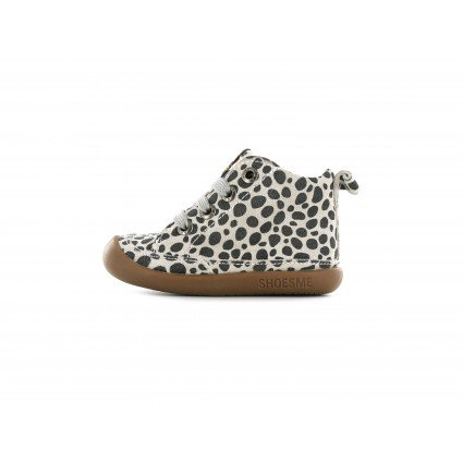 Shoesme BabyFlex veterschoentje met allover luipaardprint