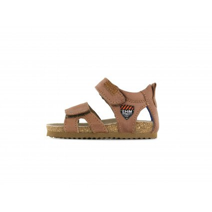Shoesme cognac sandaal met patch