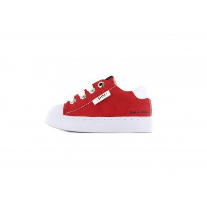 Shoesme rode lage sneakers