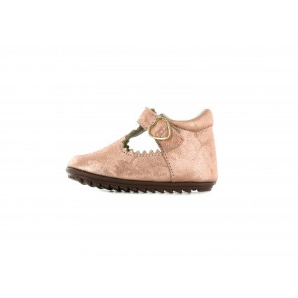 Shoesme schattig T-band schoentje in metallic peach